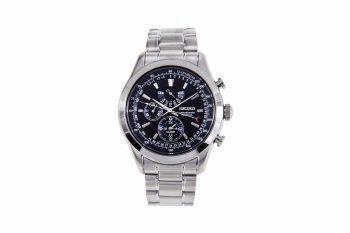 Seiko Perpetual Silver Chronograph Men's Watch SPC125P1