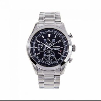 Seiko Perpetual Silver Chronograph Men's Watch SPC125P1