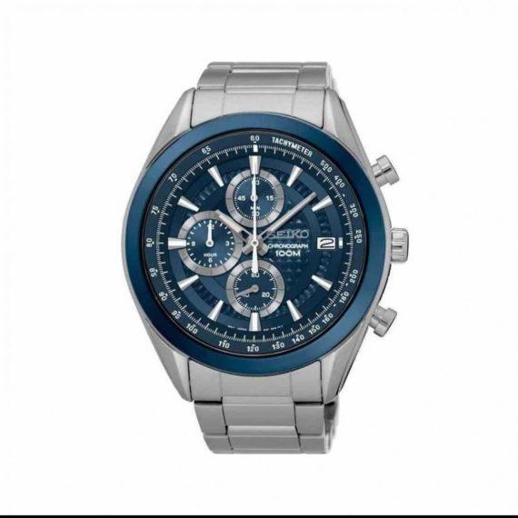 Seiko Silver Chronograph Men's Watch SSB177P1