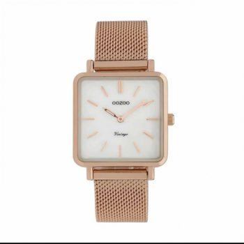 OOZOO Timepieces Vintage Rose Gold White Women's Watch C9846