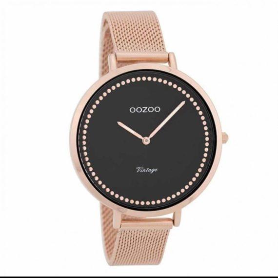 OOZOO Vintage Rose Gold Black Women's Watch C9858