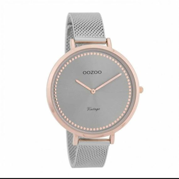 OOZOO Vintage Rose Gold Silver Women's Watch C9856