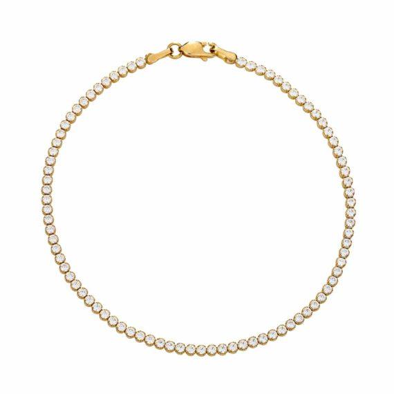 Βραχιόλι Ριβιέρα Χρυσό Με Ζιργκόν 002769