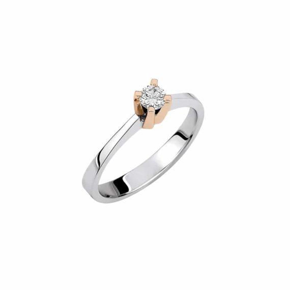 Monopetro Dachtylidi Leykochryso Kai Roz Chryso Me Diamanti Mprigian 002831