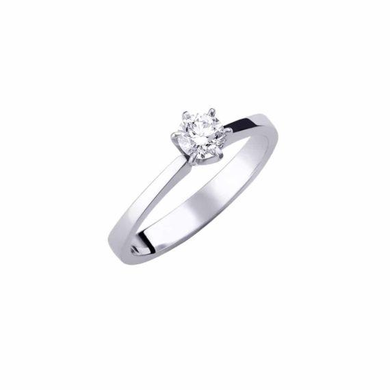 Monopetro Dachtylidi Leykochryso Me Diamanti Mprigian 002830