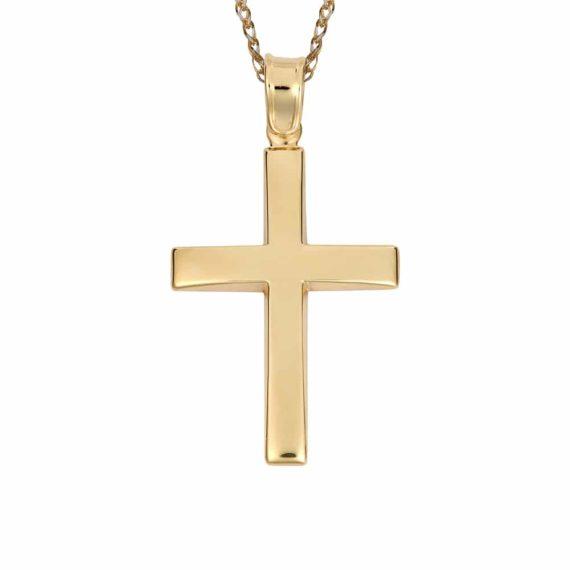 Σταυρός Χρυσός Απλός 002835