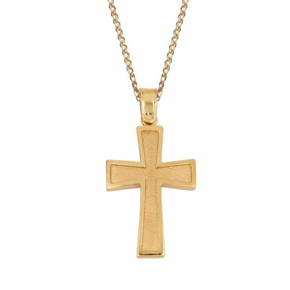 Σταυρός Χρυσός Ζαγρέ Διπλής Όψης 002840