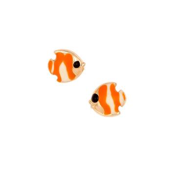 Σκουλαρίκι Ψαράκι Παιδικό Χρυσό Για Κορίτσι 14K