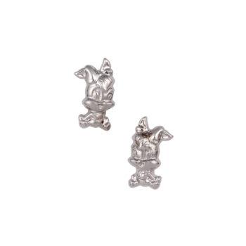 Σκουλαρίκι Lola Bunny Παιδικό Λευκόχρυσο Για Κορίτσι 14K