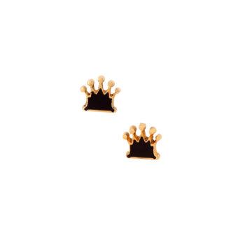Σκουλαρίκια Κορώνα Χρυσά 14K