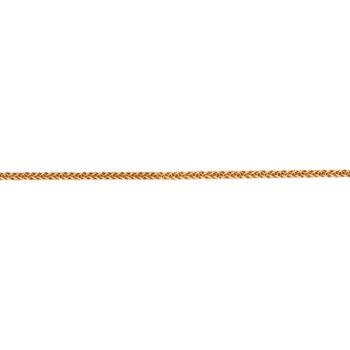 Αλυσίδα Χρυσή Λεπτή Πλεκτή Τετράγωνη 45cm