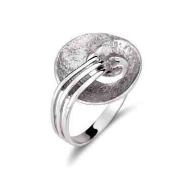 Δαχτυλίδι Λευκόχρυσο Σφυρήλατο 14K