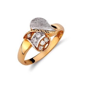 Δαχτυλίδι Χρυσό Και Λευκόχρυσο Με Ζιργκόν Ζαγρέ 14K