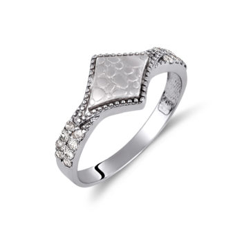 Δαχτυλίδι Μαρτελέ Λευκόχρυσο Με Ζιργκόν 14K