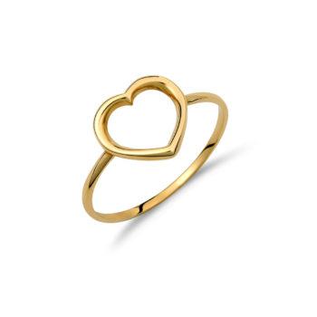 Δαχτυλίδι Καρδιά Χρυσό