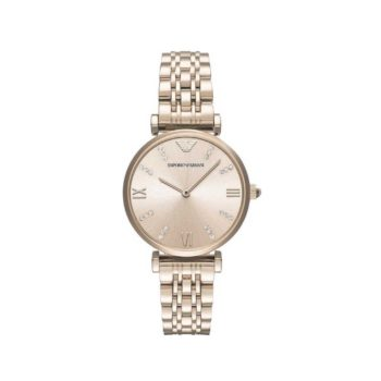 Emporio Armani Gianni T Bar Rose Gold Women's Watch AR11059