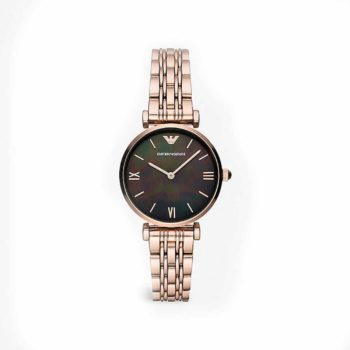 Emporio Armani Rose Gold Steel Ladies Watch AR11145