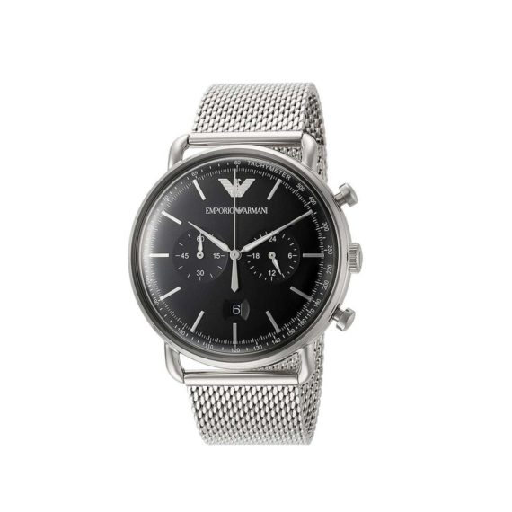 Emporio Armani Rose Silver Steel Chronograph Men's Watch AR11104