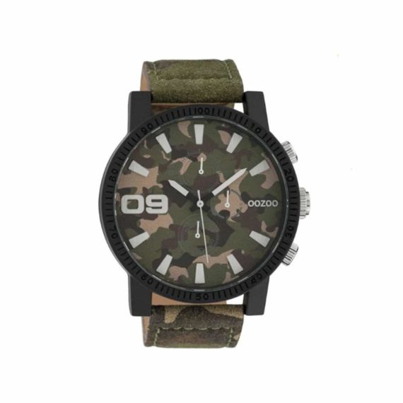 OOZOO Timepieces Camo Leather Unisex Watch C10066