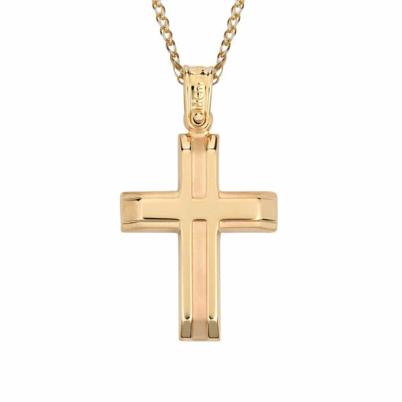 Σταυρός Ανάγλυφος Χρυσός 002858