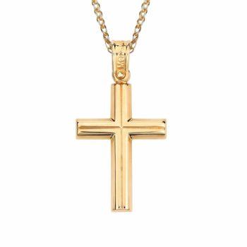 Σταυρός Ανάγλυφος Χρυσός 002864