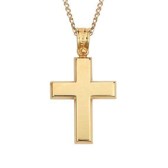 Σταυρός Χρυσός Απλός 002856