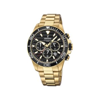 Festina Chronograph Gold Stainless Steel Men's Watch F20364 3