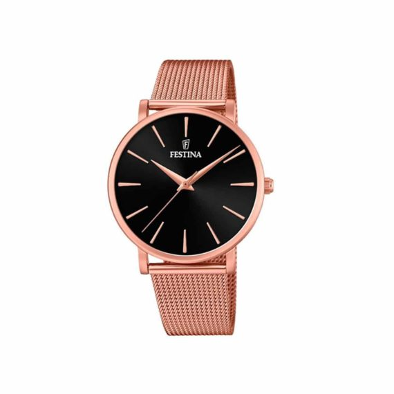 Festina Slim Rose Gold Mesh Band Women's Watch F20477 2