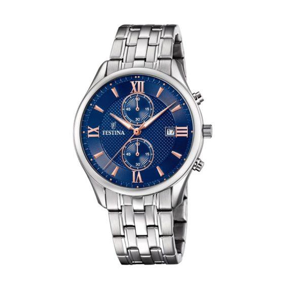 Festina Timeless Chronograph Men's Watch Rose Gold Hands F6854 6