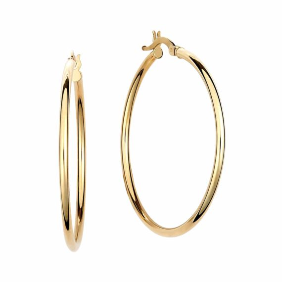 Κρεμαστά Σκουλαρίκια Κρίκοι Χρυσά Απλά 002906