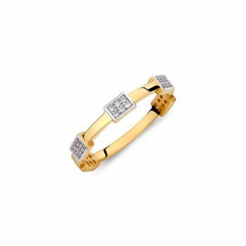 Μοντέρνο Δαχτυλίδι Χρυσό Με Ζιργκόν 002877