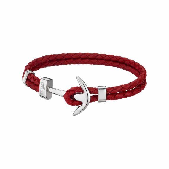 Βραχιόλι Άγκυρα Lotus Style Με Διπλό Κόκκινο Κορδόνι LS1832 2 2