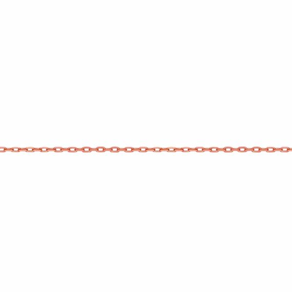 Αλυσίδα Κρίκοι Ροζ Χρυσή 40cm