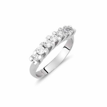 Δαχτυλίδι Σειρέ Λευκόχρυσο Με Μεγάλα Ζιργκόν 002918