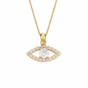 Κρεμαστό Μάτι Χρυσό Με Ζιργκόν 002931