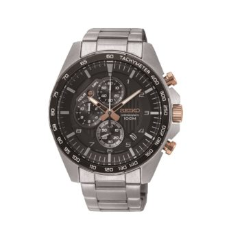 Seiko Chronograph Rose Gold Dial Men's Watch SSB323P1
