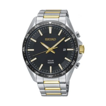 Seiko Gold Dial Solar Men's Watch – SNE485P1