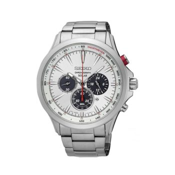 Seiko Silver Dial Solar Men's Watch – SSC491P1