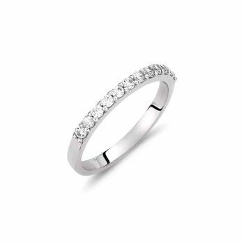 Σειρέ Δαχτυλίδι Λευκόχρυσο Με Ζιργκόν 002929