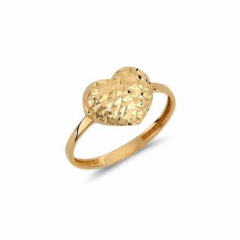 Δαχτυλίδι Καρδιά Σφυρήλατος Χρυσός 002946