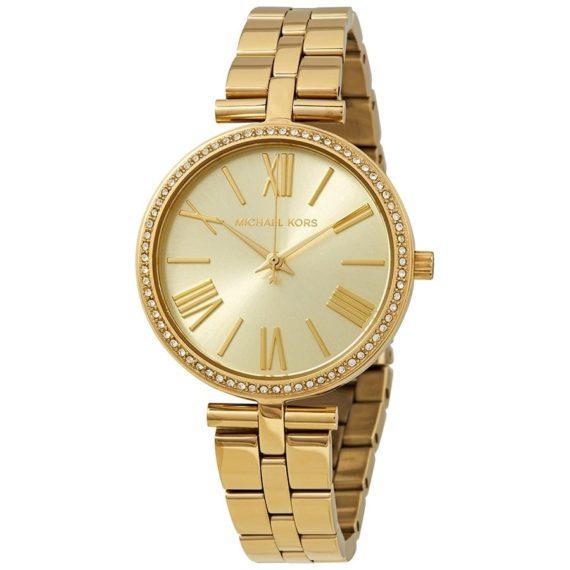 Michael Kors Maci Crystal Yellow Gold Dial Ladies Watch Mk3903