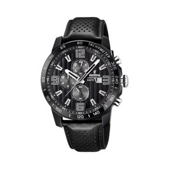 Festina Chronograph Black Leather Strap Men's Watch F20339 6