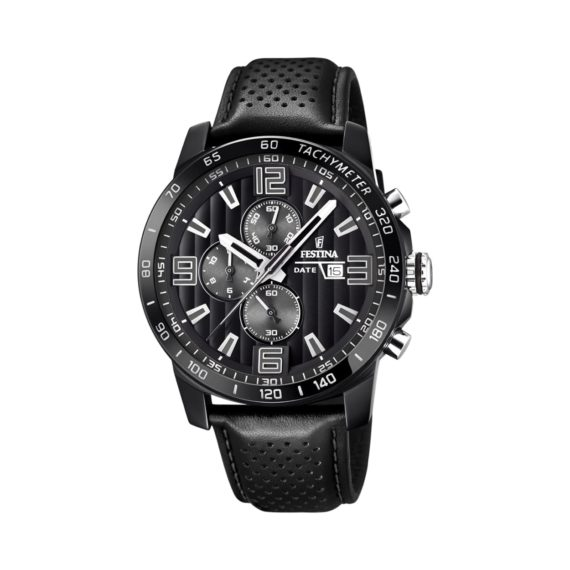 Festina Chronograph Black Leather Strap Men's Watch F20339 6