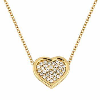 Κρεμαστό-Καρδιά Χρυσό Με Ζιργκόν 14K