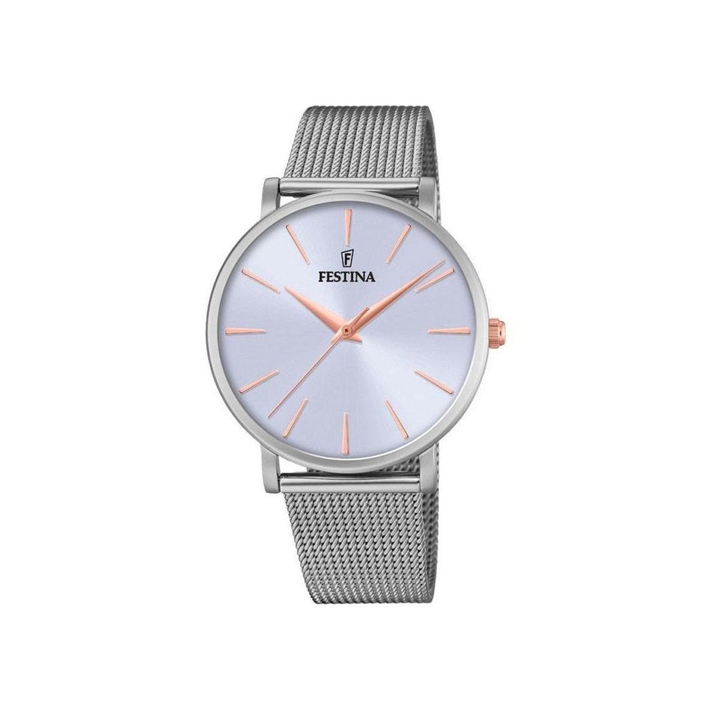 Festina Classic Slim Silver Gold Women's Watch F20475 3