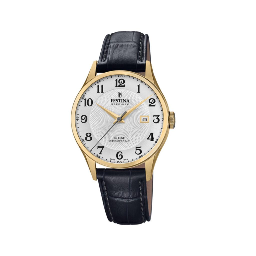 Festina Swiss Made Gold Men's Watch F20010 1