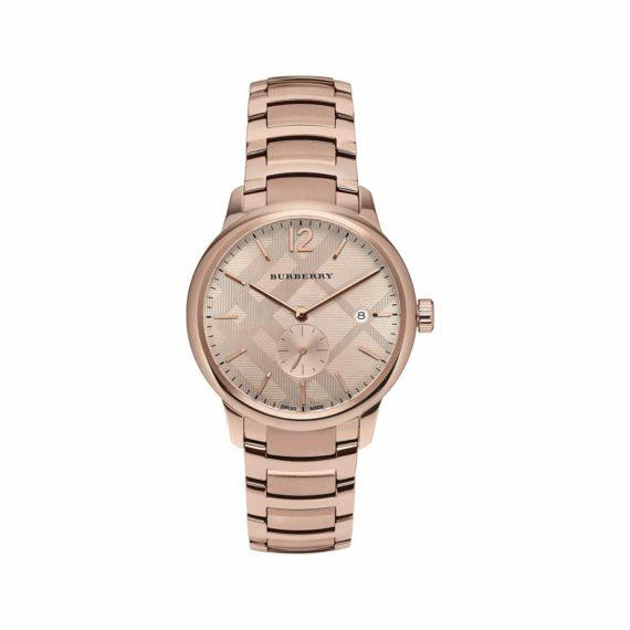 Burberry Classic Round Rose Gold Unisex Watch BU10013