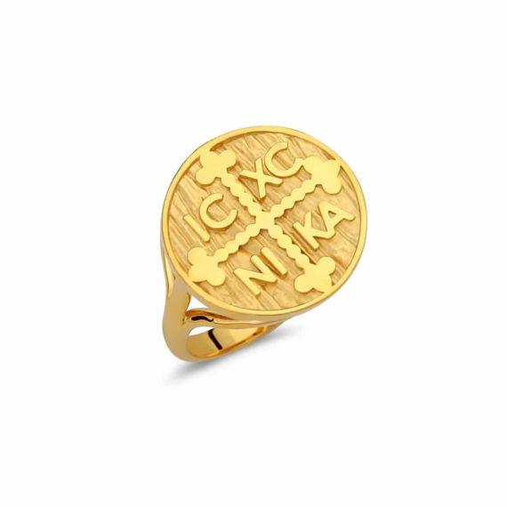 Δαχτυλίδι Χρυσόβουλο Χρυσό Σφυρήλατο 003032 Jewelor