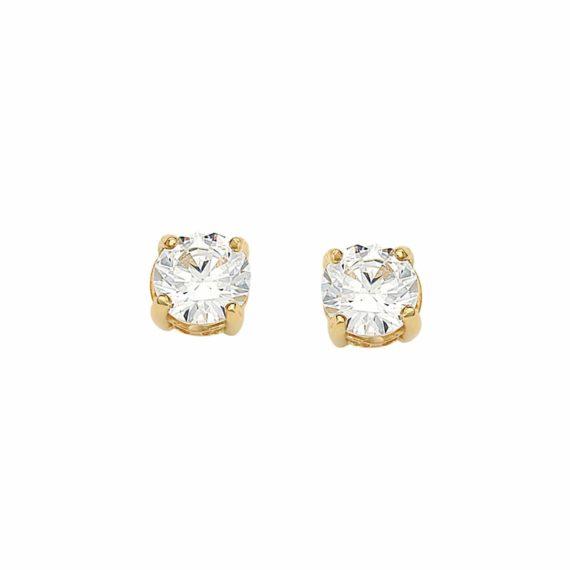 Καρφωτά Σκουλαρίκια Χρυσά Με Ζιργκόν 003040 Jewelor