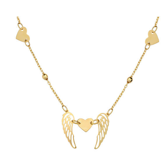 Κρεμαστό Έρωτας Διάτρητο Χρυσό 003057 Jewelor